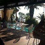 breakfast in the restaurant terrace
