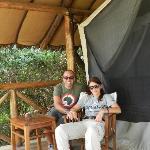 l'ingresso della nostra tenda