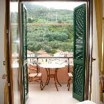 The doors in our room out to our terrace.