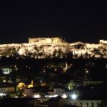 Roof bar view of the Acropolis, in AthenStyle