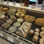 Food offerings at Fauchon Paris. Cheeses!