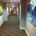 large hallways with art