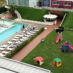 Pool area from roof sun terrace