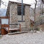 Vista de una cabaña
