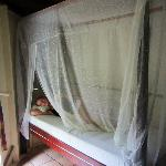 Bed with mosquito net