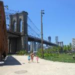 Brooklyn Bridge from Empire Fulton Park