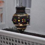 Detail of patio lamp