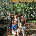 la terrasse avec nos hôtes