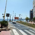 carretera acceso playa poniente