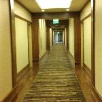 The widest hotel hallways I've ever seen