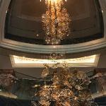 lampara que me gusto mucho a la entrada del hotel