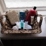 Complimentary bathroom products