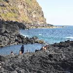 Where the hot springs & the ocean waters meet for a warm ocean swim