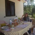 Private terrace in country villa.