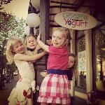 Girls at Goozell Yogurt in Golden, CO