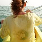 Enjoying the calm of the sea