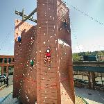 Footsloggers Outdoor Climbing Tower in Downtown Boone, NC.