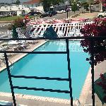 Pool view from our poolside room.