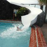 Water slide....too fast to actually get their picture!