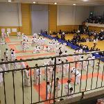Junior High martial arts tournament in gymnasium