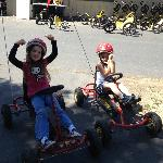 Younger Kids Riding the 4 wheel bikes