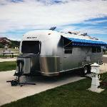 Our Airstream at Durango RV Park in Cali
