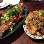 barramundi and fried rice