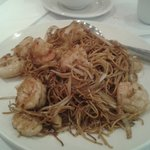 Fried Soft Sea Food Noodles close up