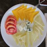 Part of the Breakfast cheese platter