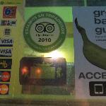 A TripAdvisor sticker in the window!