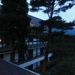 静かな洋風のホテル