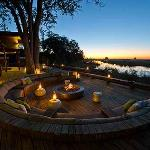 Sunken Lounge with Stargazing Fire Deck at Kings Pool Camp