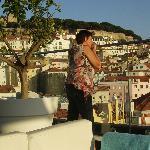 panorama van het rooftop-bar - Varanda de Lisboa