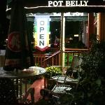 Pot Belly outside seating