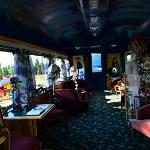 Dining car where we had breakfast