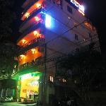 Ha Van Hotel at night.