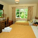 Bedrooms, pleasant, fresh decor, mostly with double & single bed