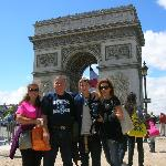 All of us walked to the Arch along the Seine and were there for Bastille Day