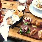 The Charcuterie Board including the best scotch egg ever!