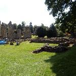 ruins and garden in hamony