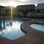 pool and one of the hot tubs