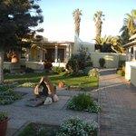 Jardin et accès aux chambres