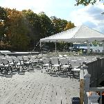 sundeck set up for wedding vows