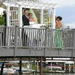 wedding vows on the spacious sundeck