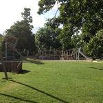 Kids playground in the sun