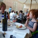 The terrace with our antipasti and wine