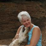 Wolf kisses from Micah at the Colorado Wolf & Wildlife Center, Divide, CO