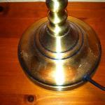dust on bedside lamp