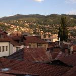 Amazing views of Sarajevo, from the hotel's car park!