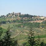 Panzano from the Villa